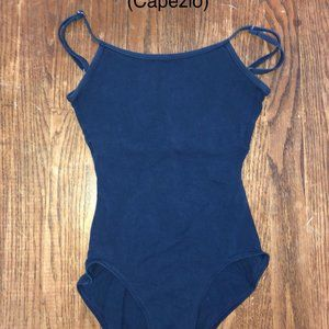 Navy blue ballet leotard
